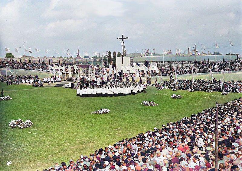 De viering van Honderd jaar Kromstaf in 1953 in Utrecht
