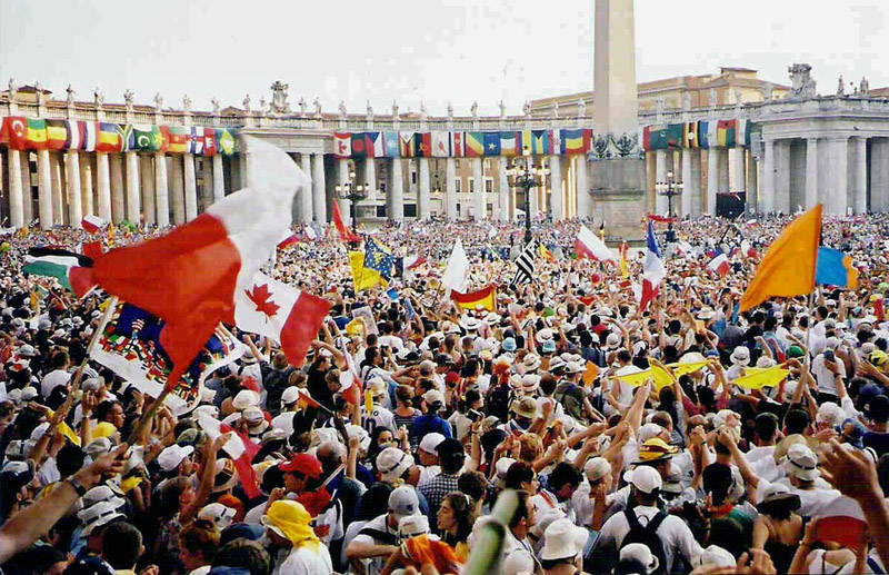 De Wereldjongerendagen in het jaar 2000 in Rome