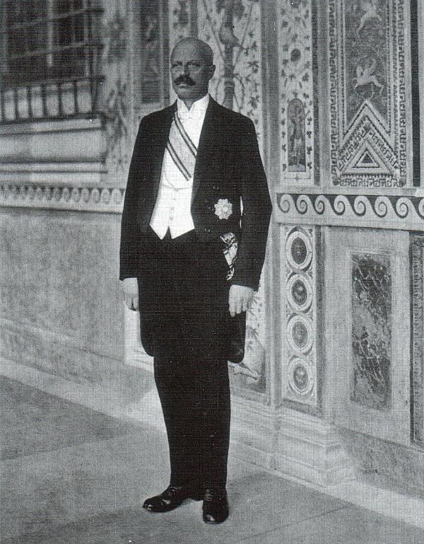Jhr. Charles J.M. Ruijs de Beerenbrouck in het Apostolisch Paleis