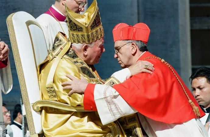 Jorge Bergoglio bij zijn creatie tot kardinaal