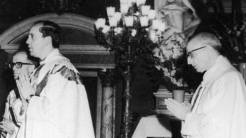 Jorge Bergoglio als pasgewijd priester