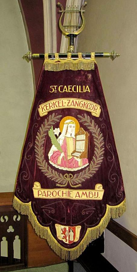Vaandel van een St. Caeciliavereniging