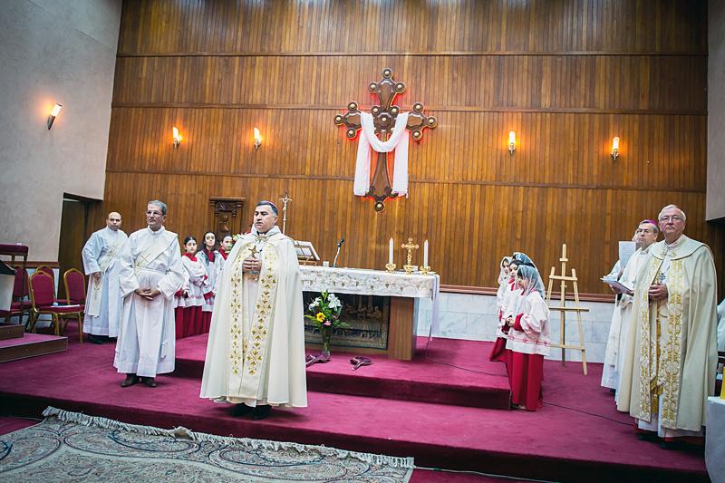 Een mis in de Chaldeeuwse kathedraal in Erbil