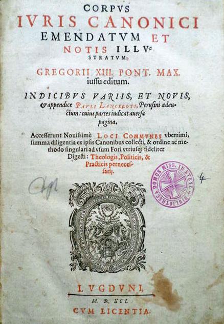 Exemplaar van het Corpus Iuris Canonici uit 1591
