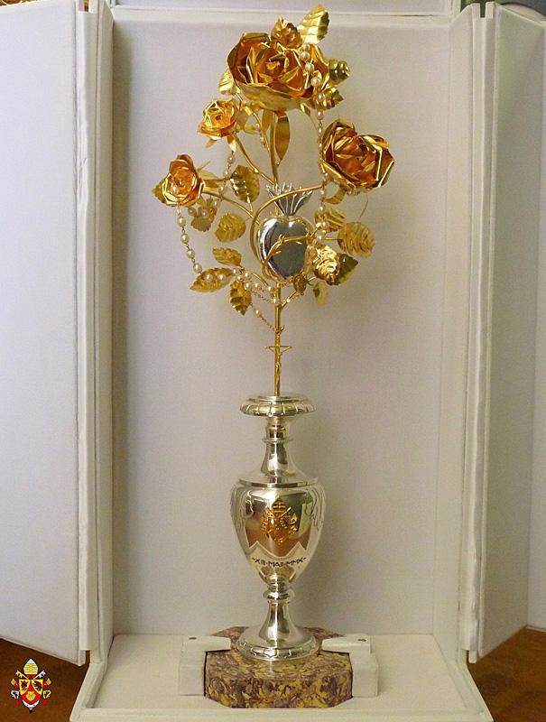 Gouden Roos van paus Benedictus XVI