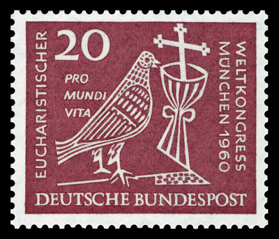 Postzegel ter gelegenheid van het Internationaal Eucharistisch Congres in 1960 in München
