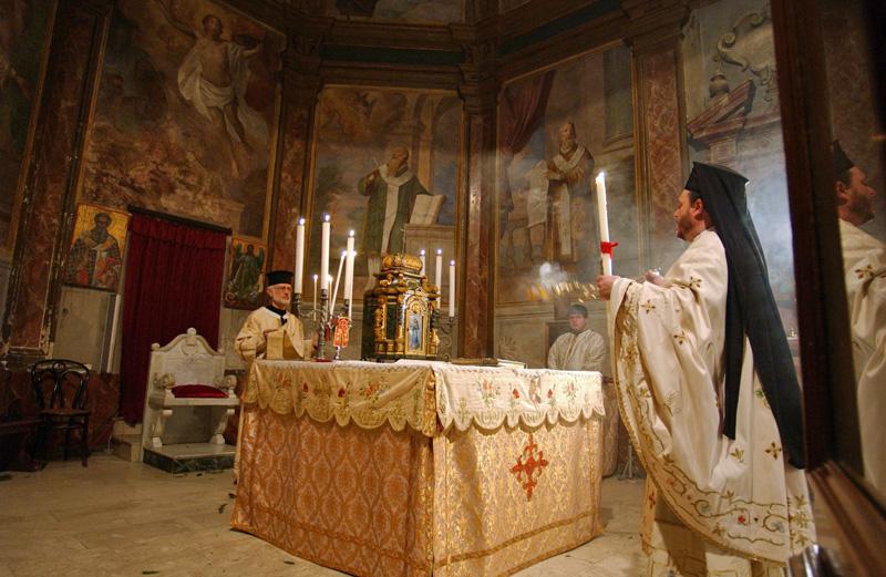 De mis van Paaszondag in een Italo-Albanese katholieke kerk