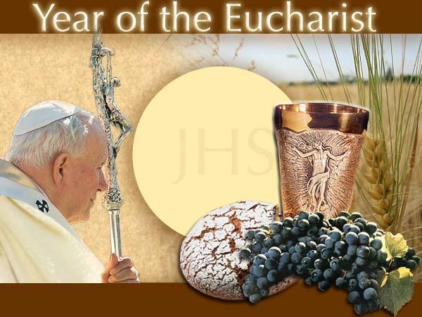 Het Jaar van de Eucharistie