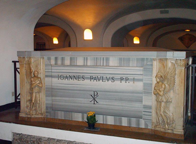 De graftombe van paus Johannes Paulus I