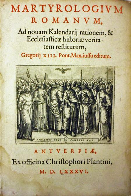 Martyrologium Romanum uit 1586