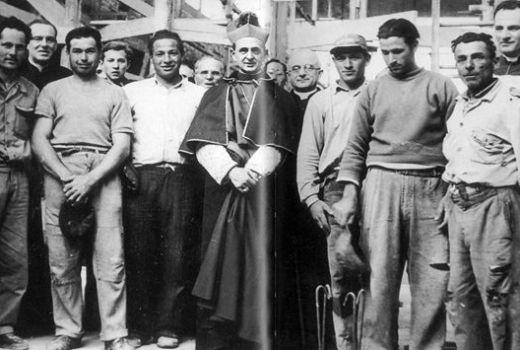 Giovanni Battista Montini als aartsbisschop van Milaan