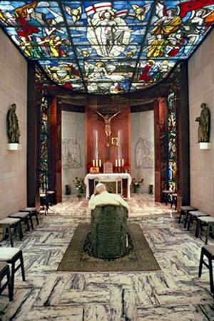 De pauselijke privékapel in het Apostolisch Paleis