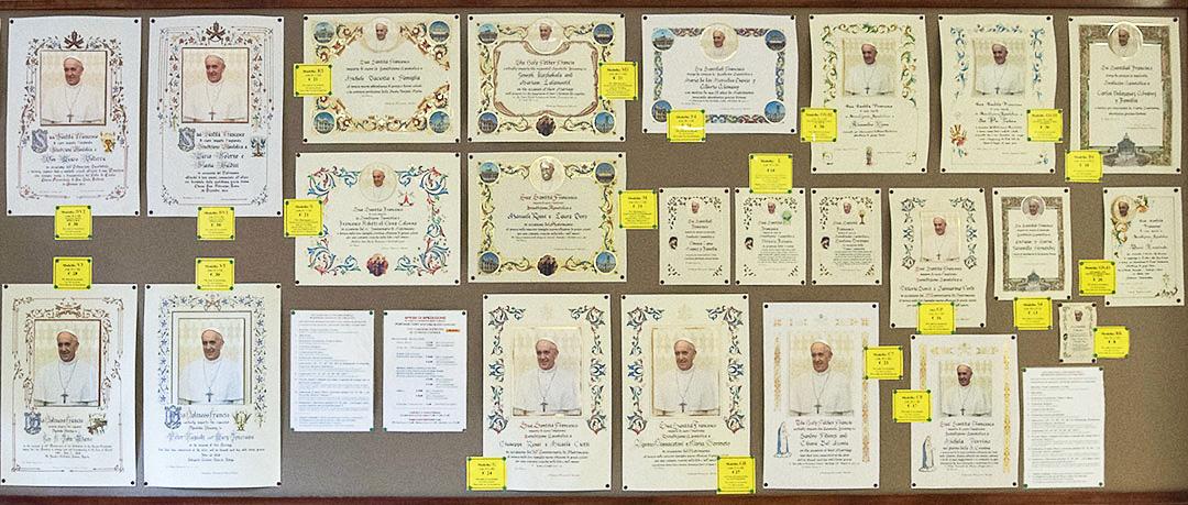 Verschillende uitvoeringen van de pauselijke zegen