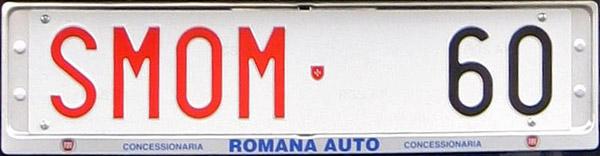 Nummerplaat van een auto van de Maltezer Orde