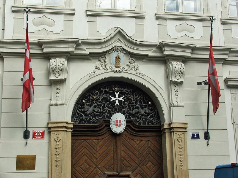 De ambassade van de Maltezer Orde in Praag