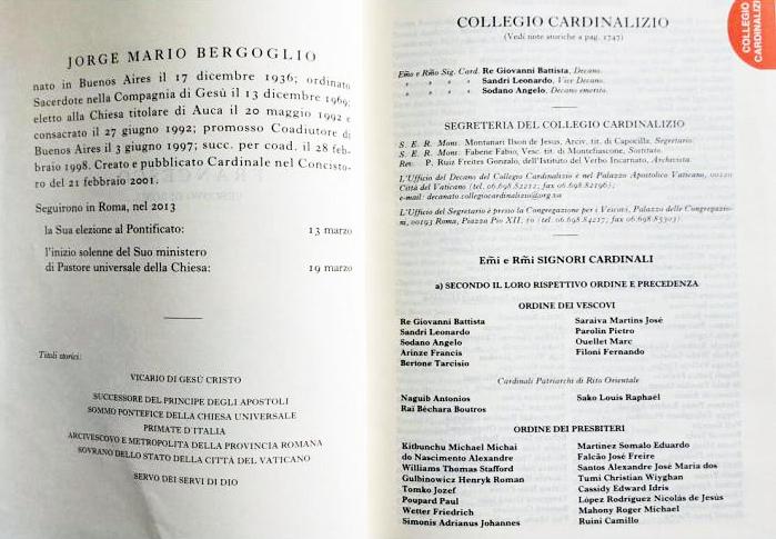 De titels van Paus Franciscus