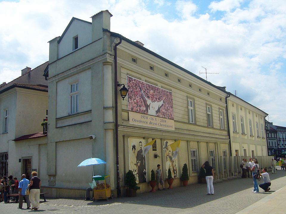 Het huis in Wadowice waar Karol Wojtyła opgroeide
